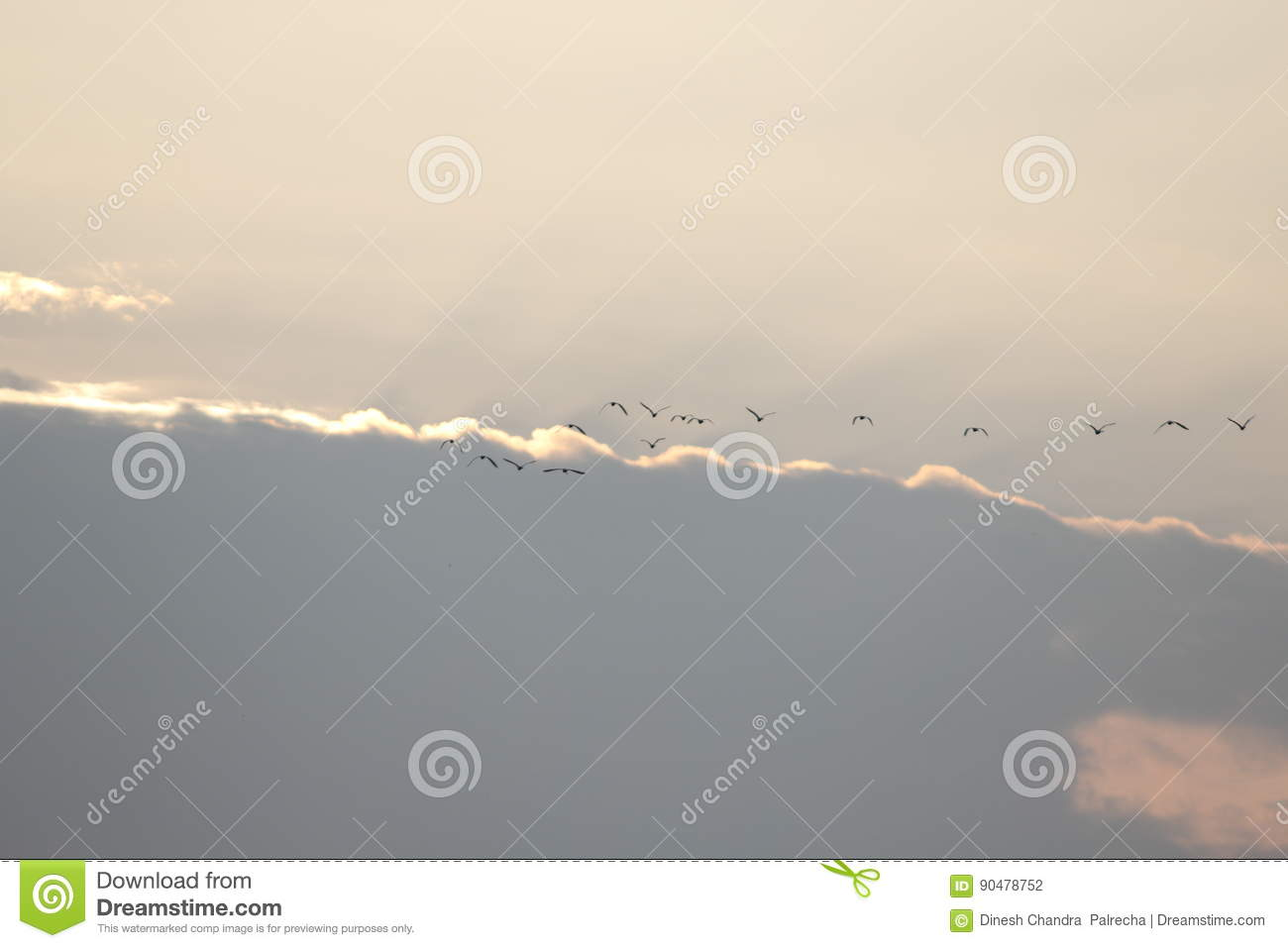Natural background in sky