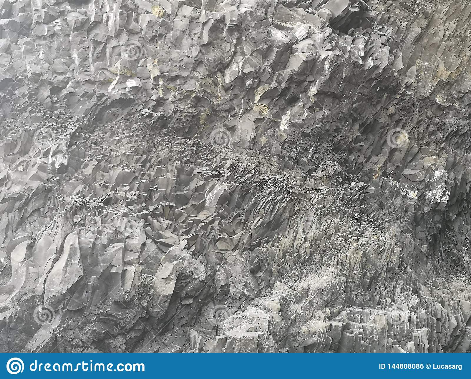 Natural Basalt Wall In Rocks Texture, Iceland. Stock Photo - Image of colours, artistic: 144808086