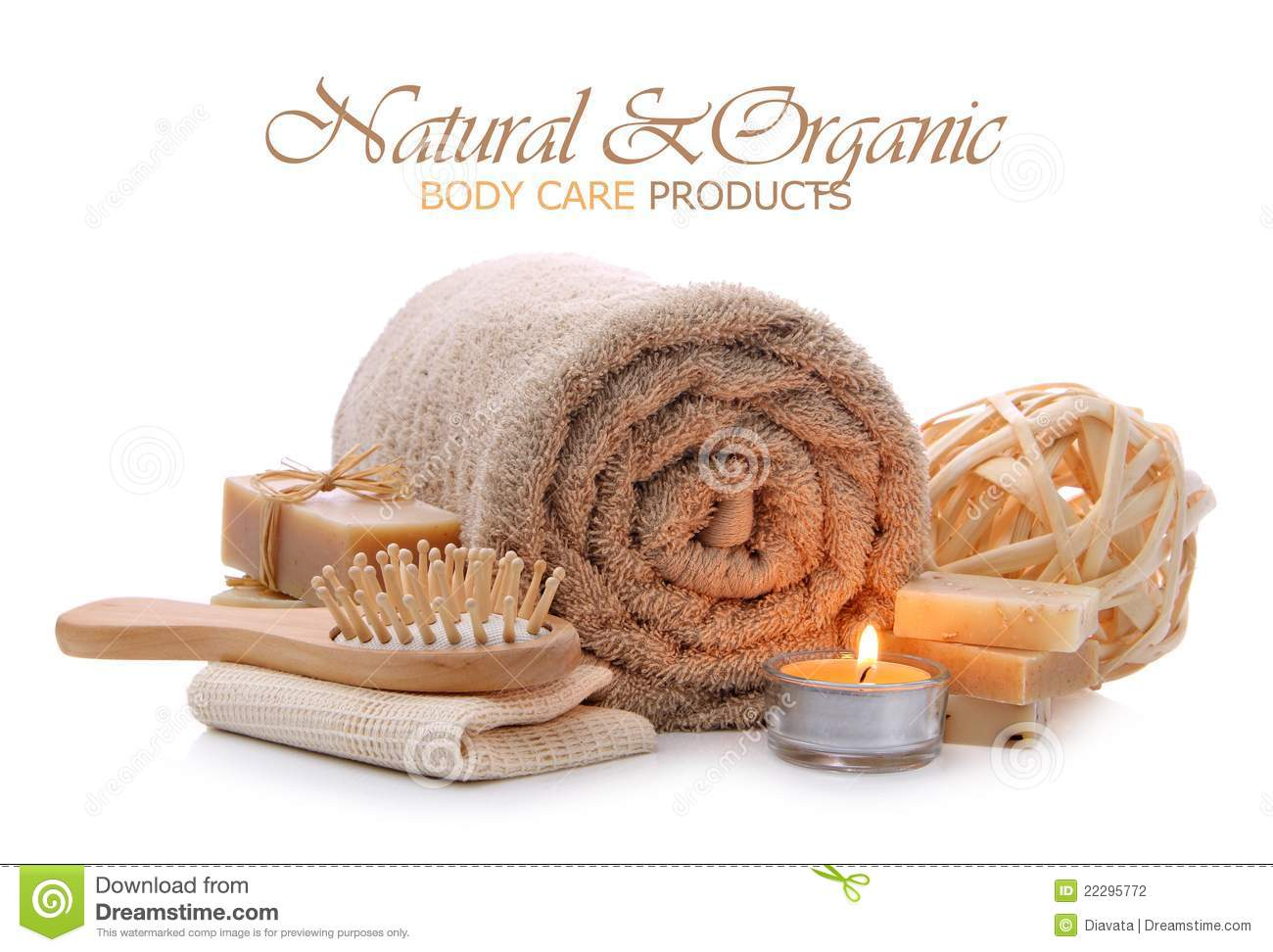 Natural And Organic Body Care Products Stock Photography