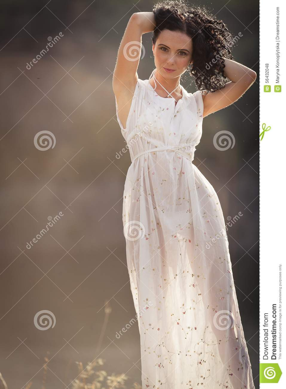 The Natural Beauty And Purity Stock Photo - Image of natural, gown ...