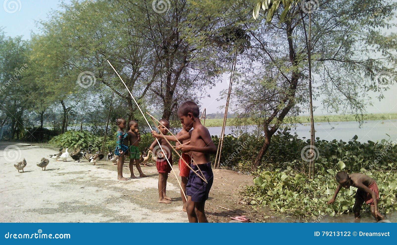 Natural Beauty Of A Small Village In Bangladesh Editorial
