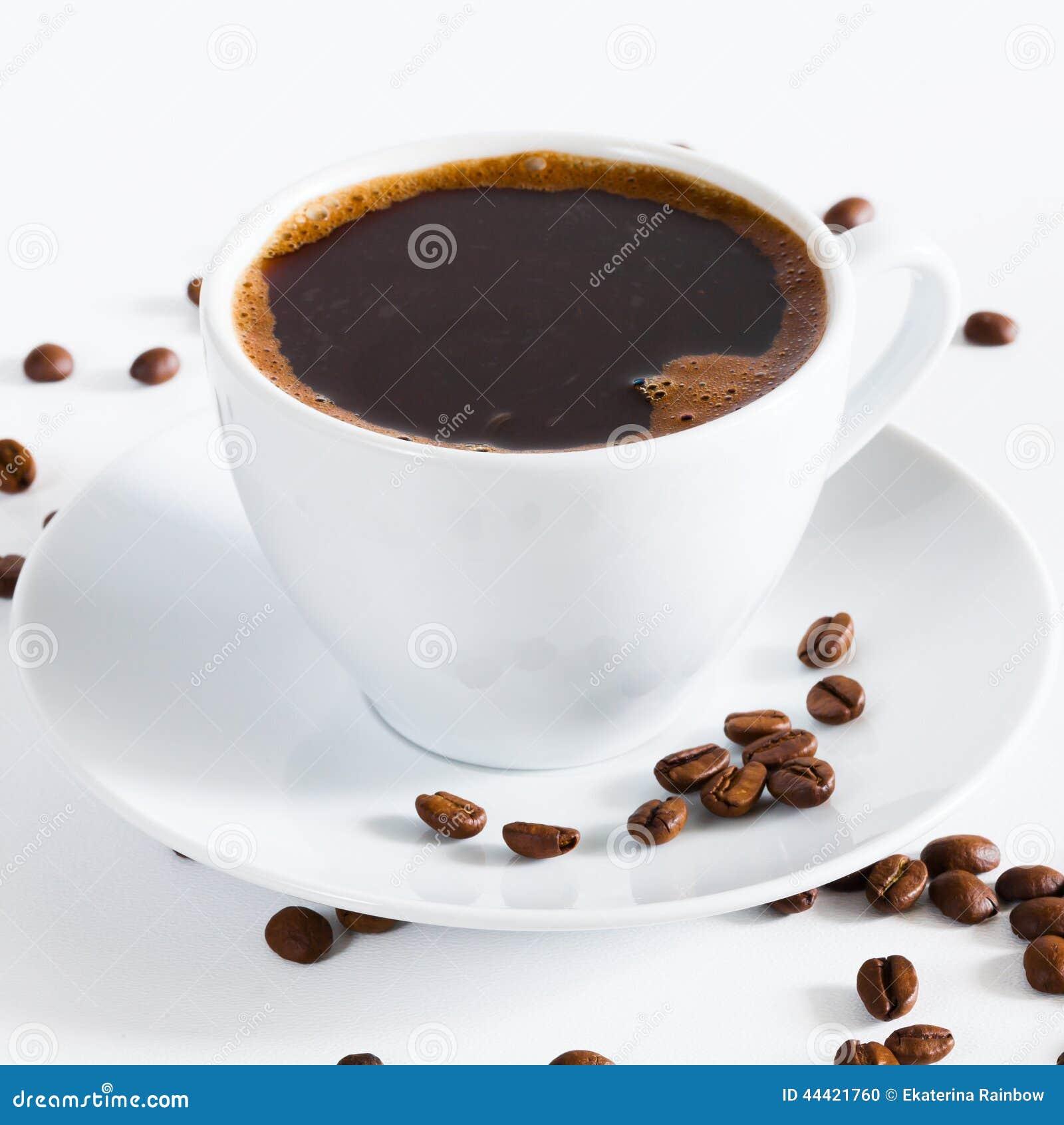 Natural Dark Coffee : Natural black coffee stock photo image of morning