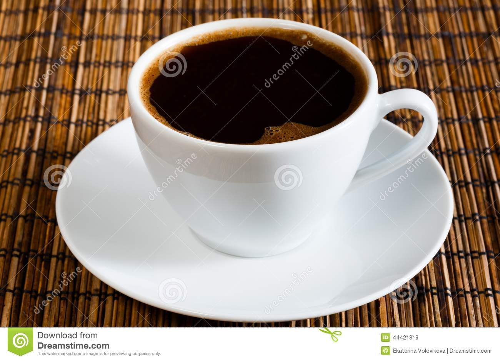 Natural Dark Coffee : Natural black coffee stock photo image