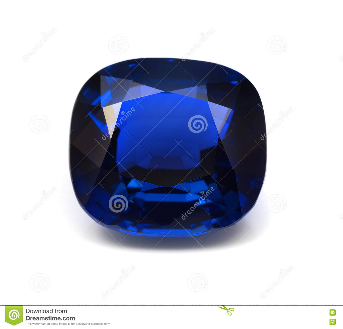 Natural Blue Sapphire Gemstone Stock Image Image Of