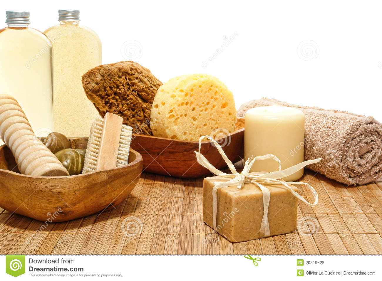Natural Body Care Accessories In A Spa Royalty Free Stock