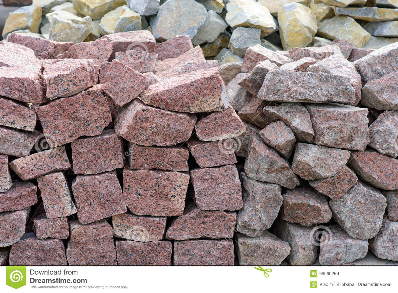 Natural Building Stones : Natural building stone cladding stock photo image