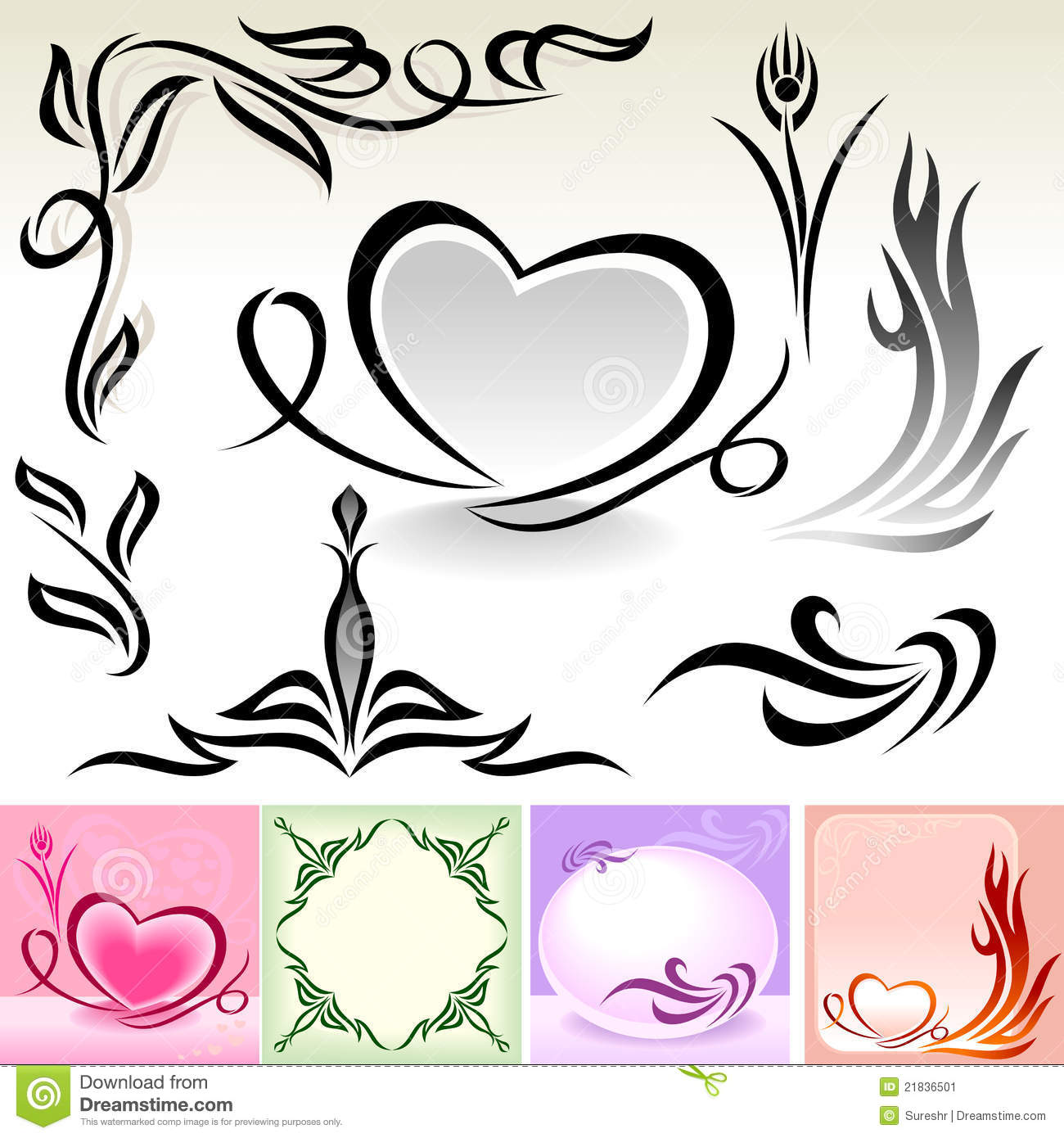Natural Calligraphic Designs And Decoration Stock Image