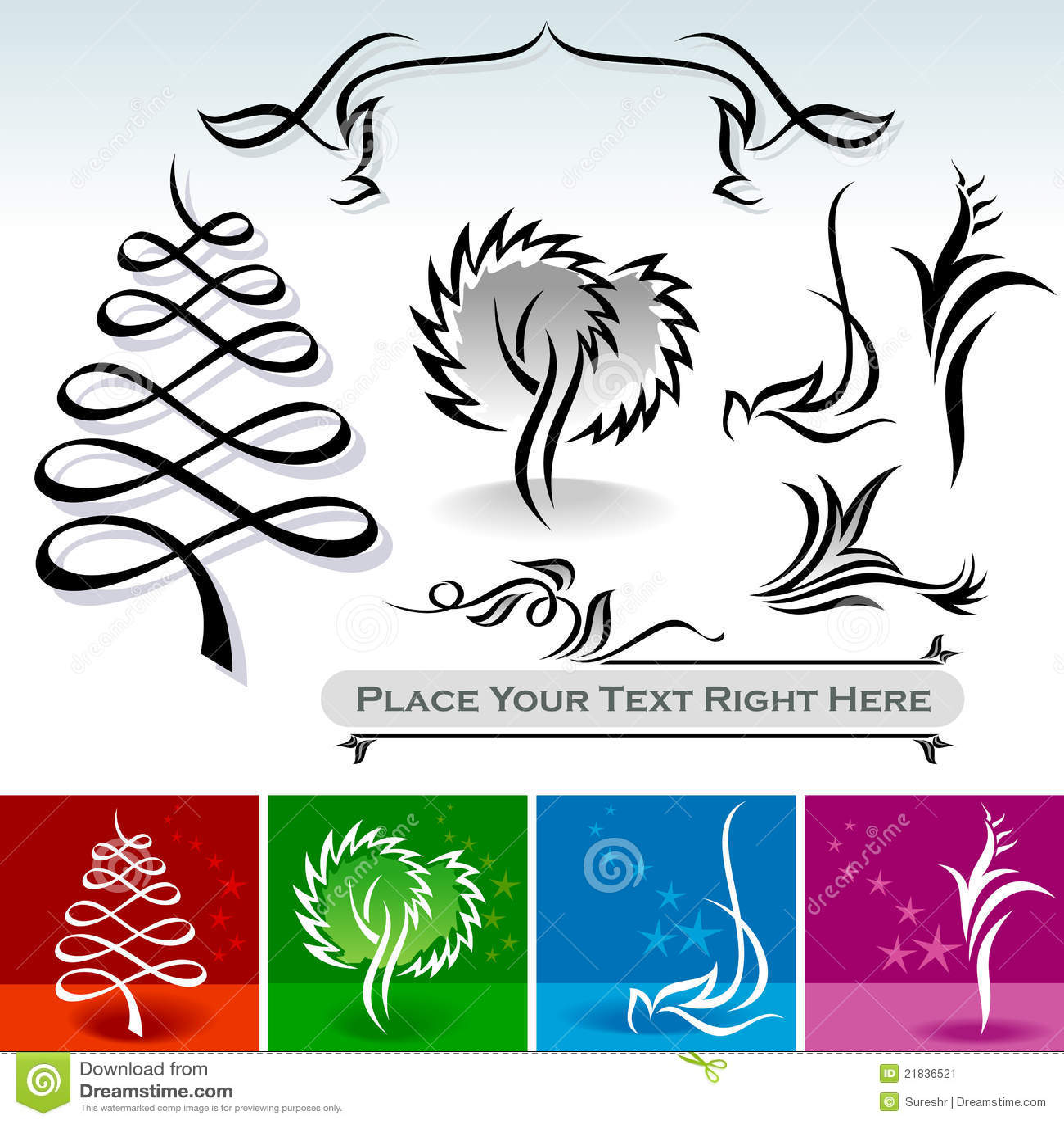 Natural Calligraphic Designs And Decoration