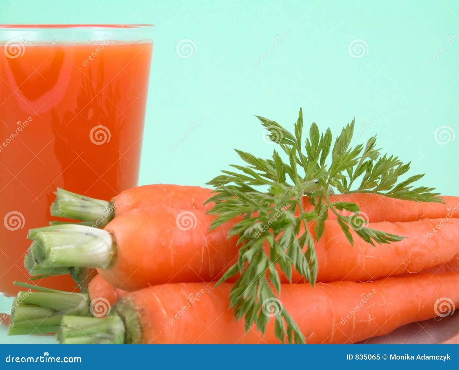 Natural carrot juice
