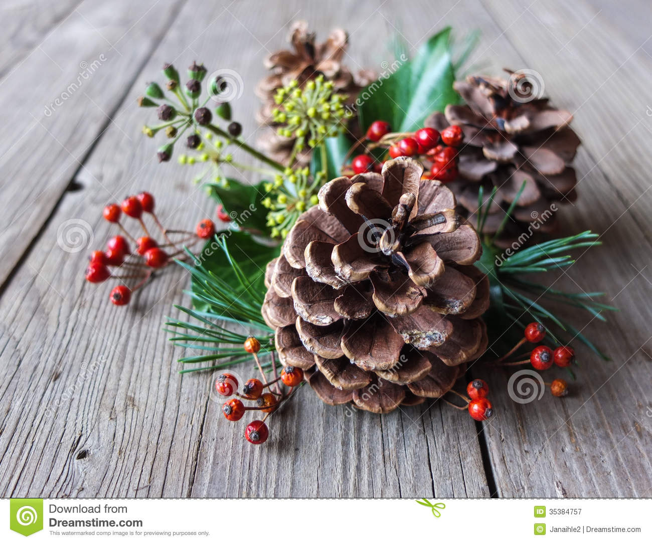free stock photography natural christmas decoration image 35384757