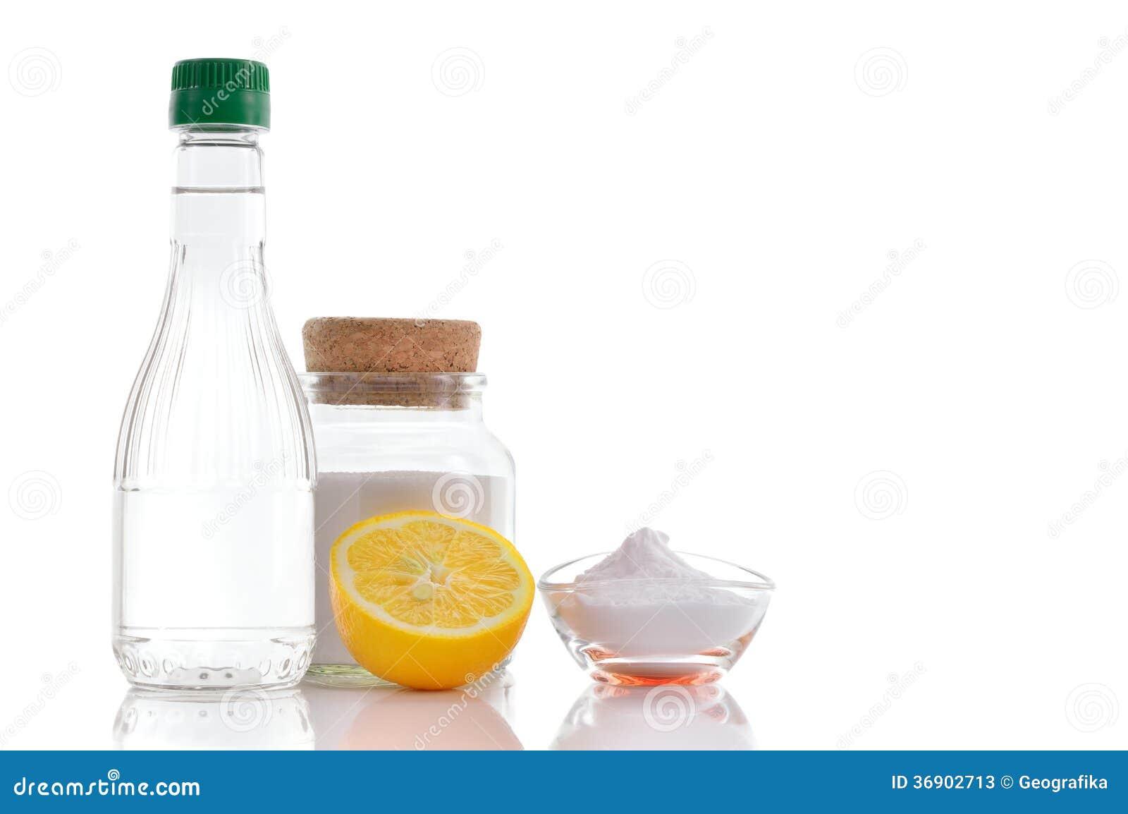 Natural Cleaners Vinegar Baking Soda Salt And Lemon