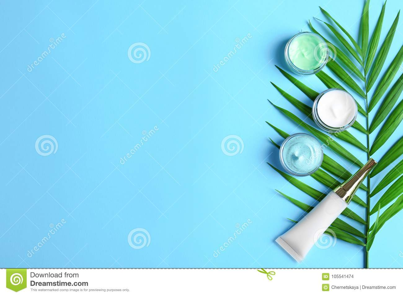 Natural cosmetics and leaf