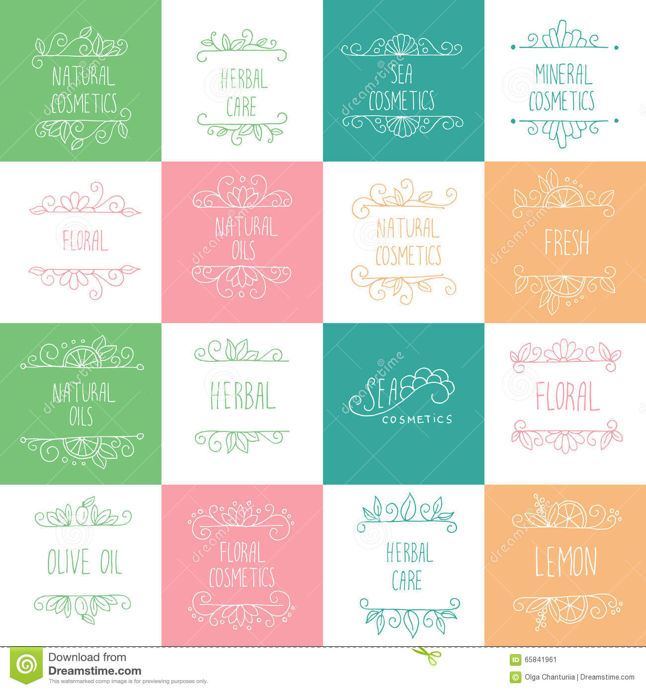 Natural Cosmetics Logos, Branding, Labels  Cosmetology And