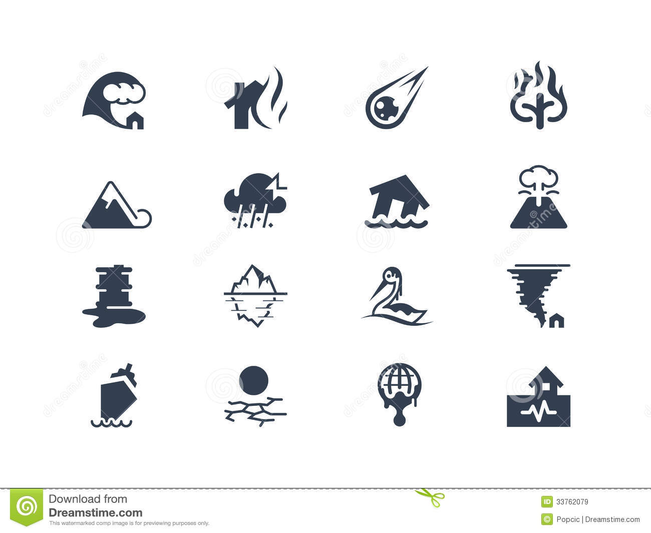Natural Disaster Icons Royalty Free Stock Images - Image: 33762079 Zoology Pictures Animals
