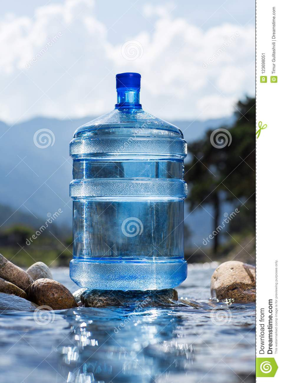 Large bottled of mineral water