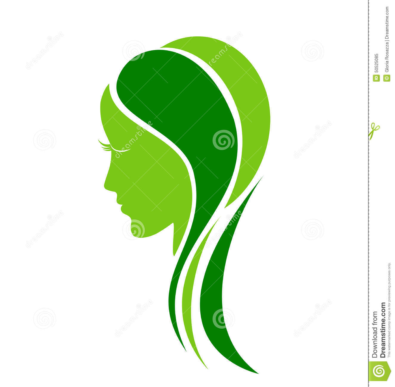 Natural Face Fashion Woman Logo Stock Vector - Image: 50525085