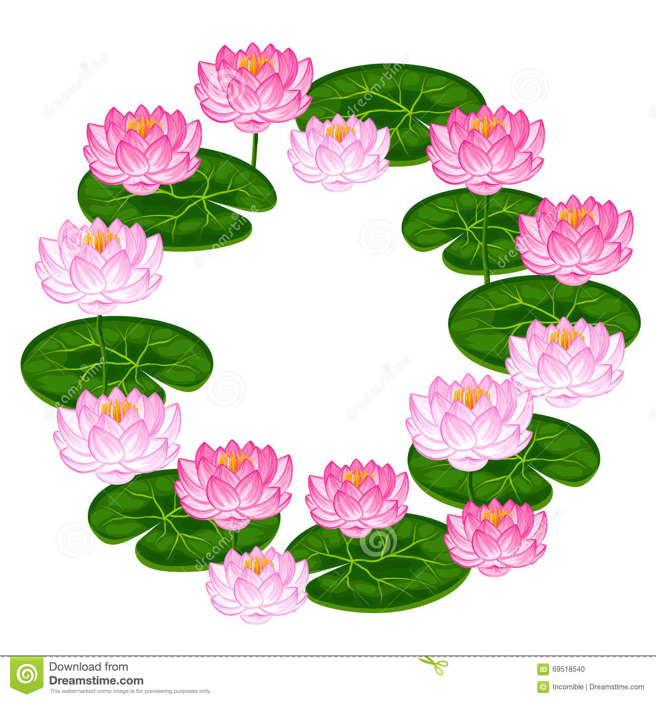 Natural frame with lotus flowers and leaves image for invitations natural frame with lotus flowers and leaves image for invitations greeting cards posters mightylinksfo