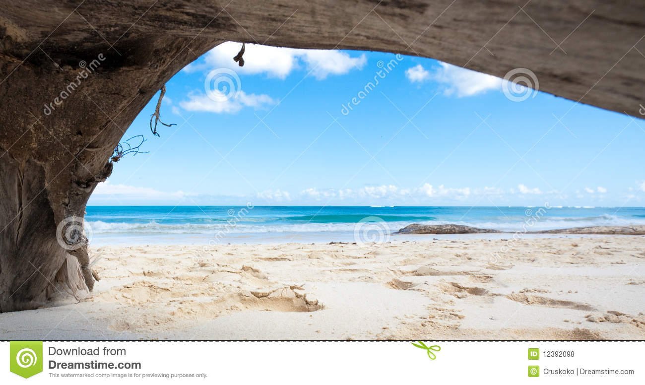 natural framed tropical beach