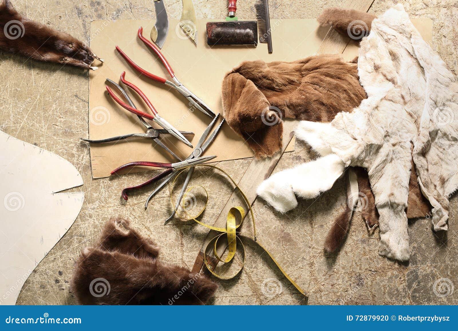 Natural fur tailor made workshop furrier