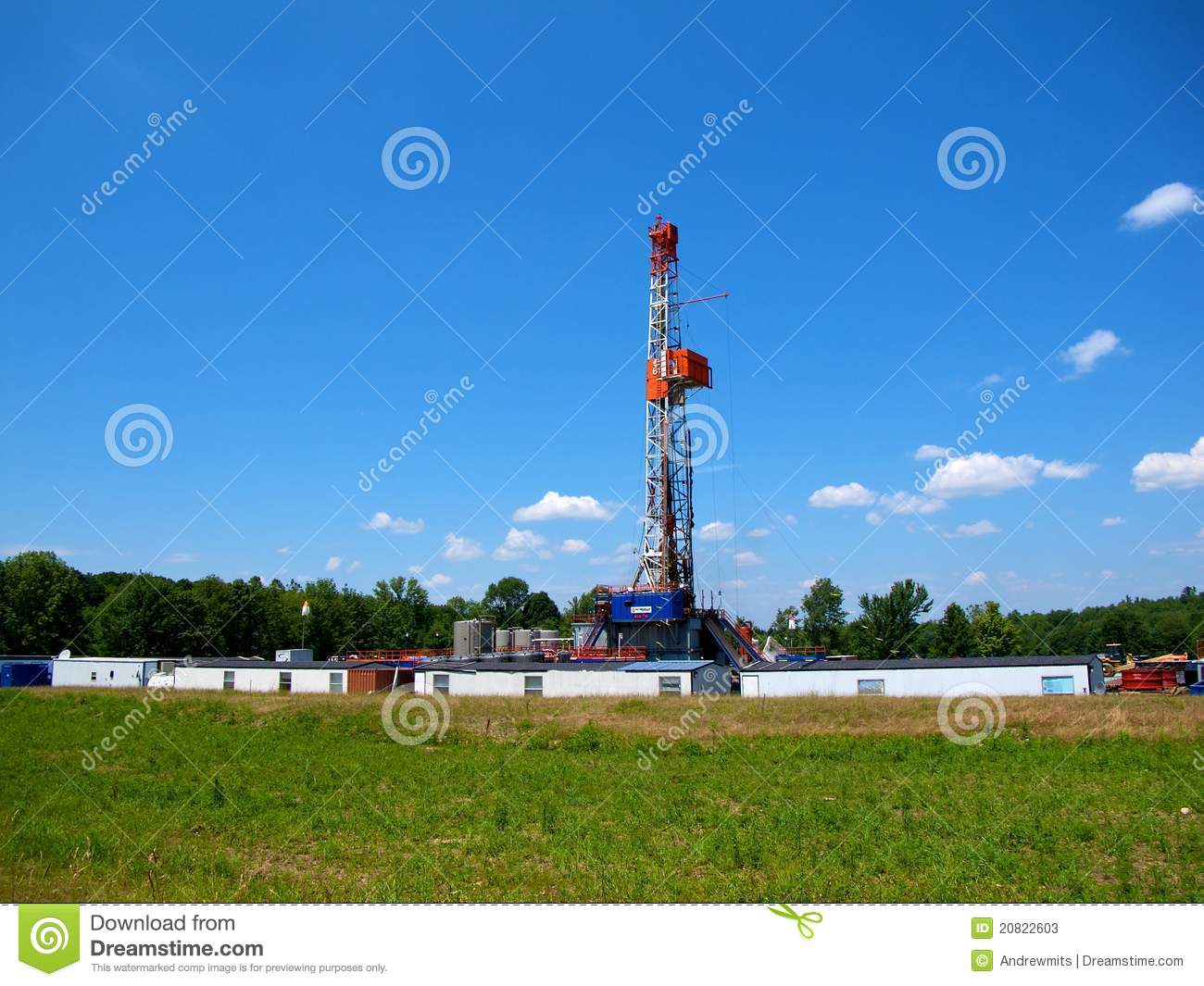 Natural Gas Drilling Worksite Stock Image - Image of well