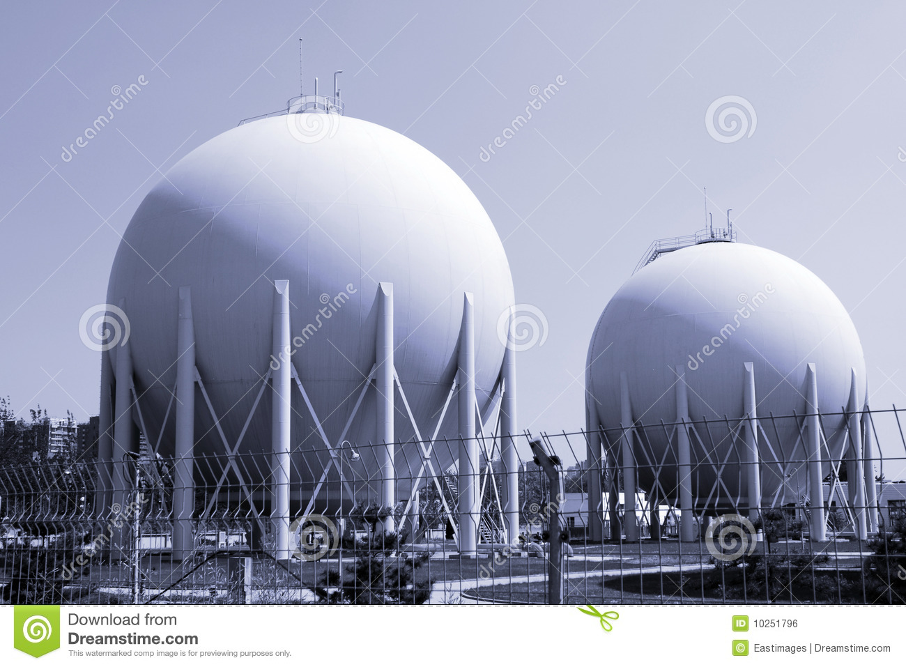 Natural Gas Factory Royalty Free Stock Image Image 10251796