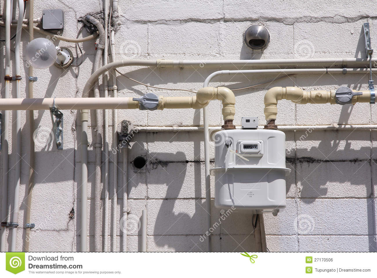 Typical Natural Gas Meter Installation