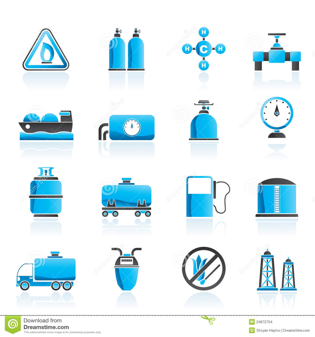 Natural Gas Objects And Icons Stock Images - Image: 24672754