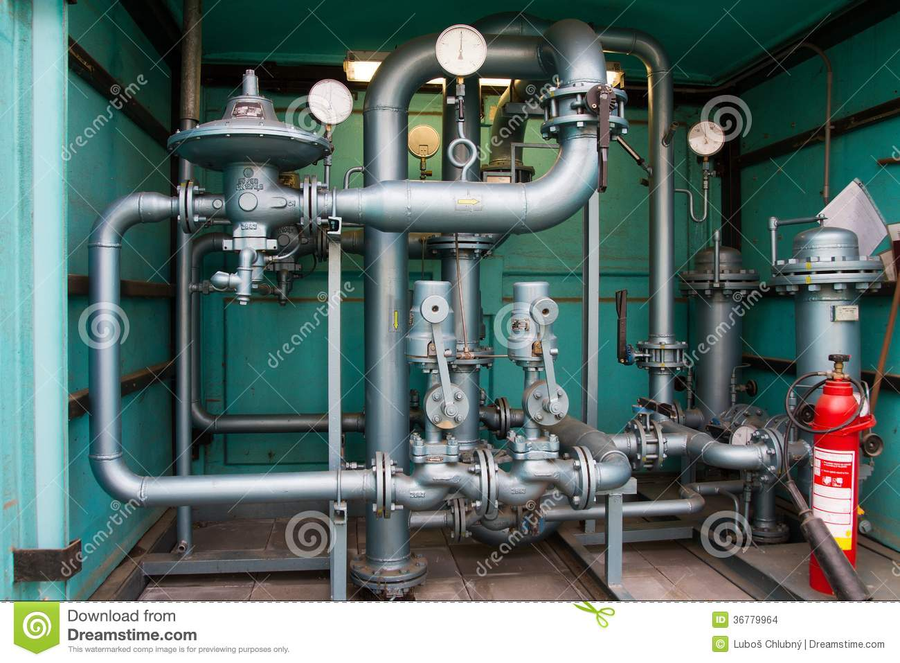 High Pressure Gas Compressor : Natural gas pipes stock images image