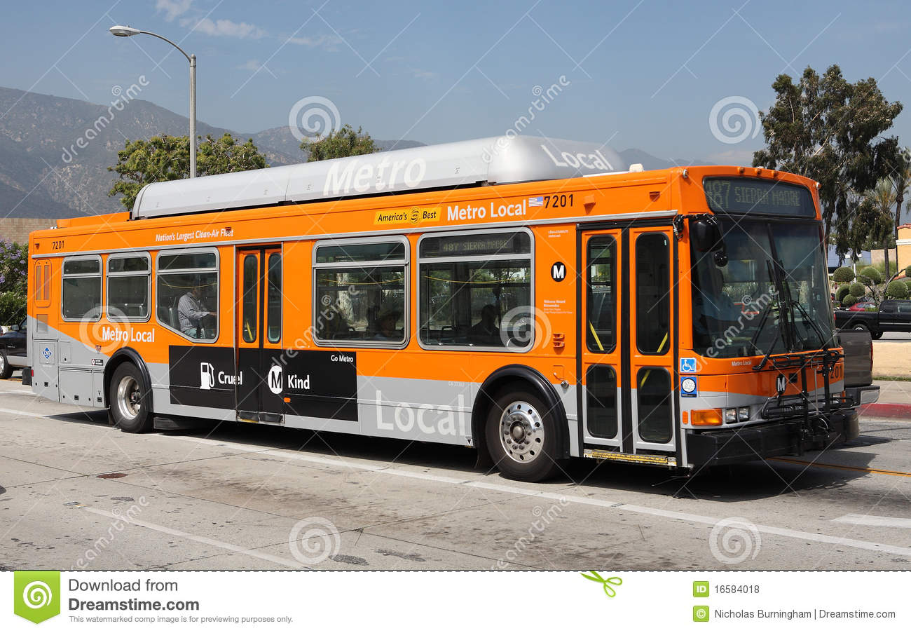 Gas Prices In California >> Natural Gas Powered Metro Local Bus In Pasadena Editorial Stock Photo - Image: 16584018