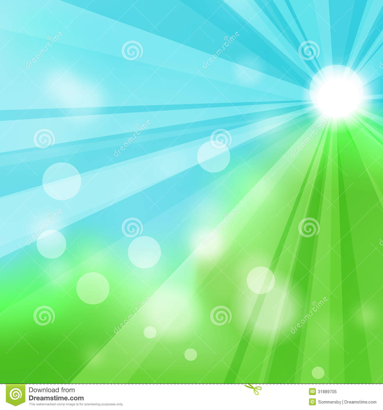 Nature Images 2mb: Natural Green Abstract Background With The Rays Stock