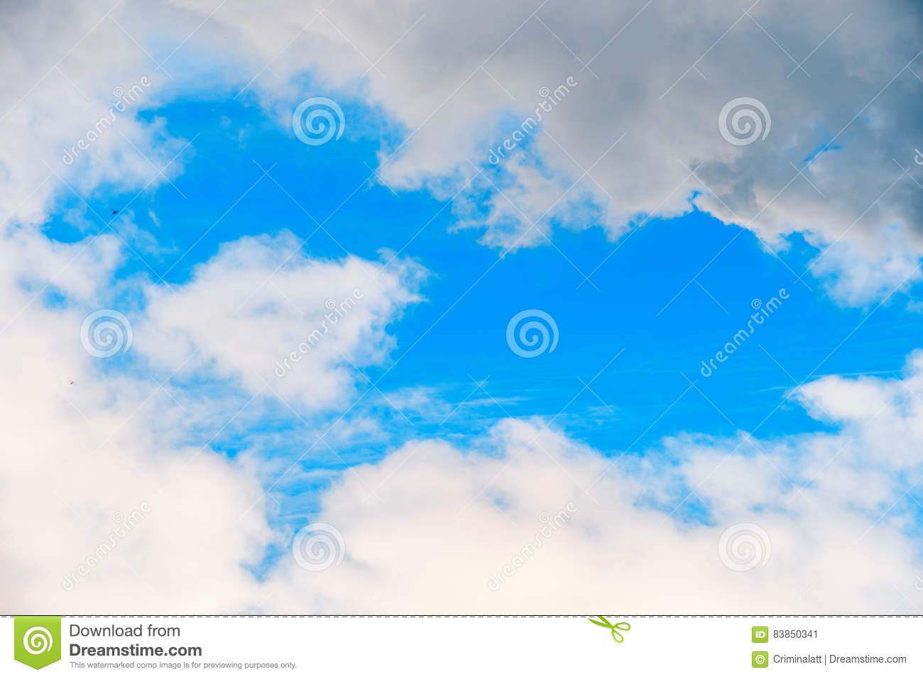 natural heart shaped frame cloud stock image