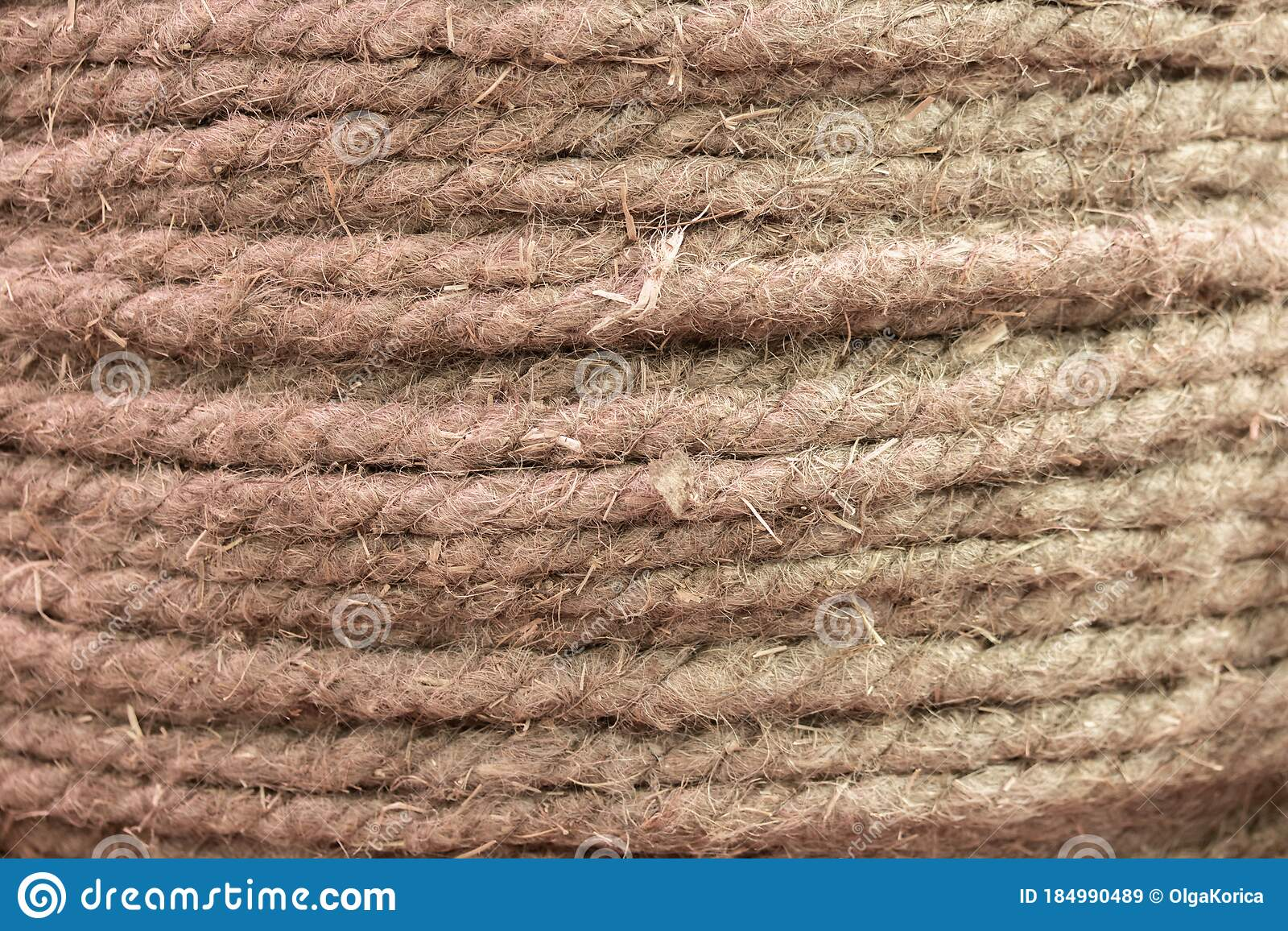 Natural Hemp Rope Hemp Fiber Woven Into A Thick Thread Closeup Textured Effect Natural Plant Material Jute Rope Texture Stock Image Image Of String Surface 184990489