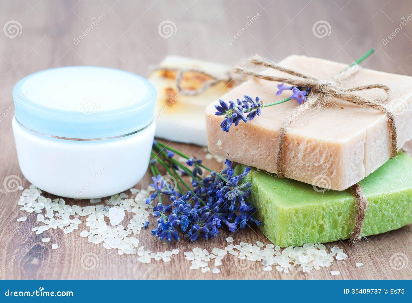 Natural Herbal Soap Royalty Free Stock Photography