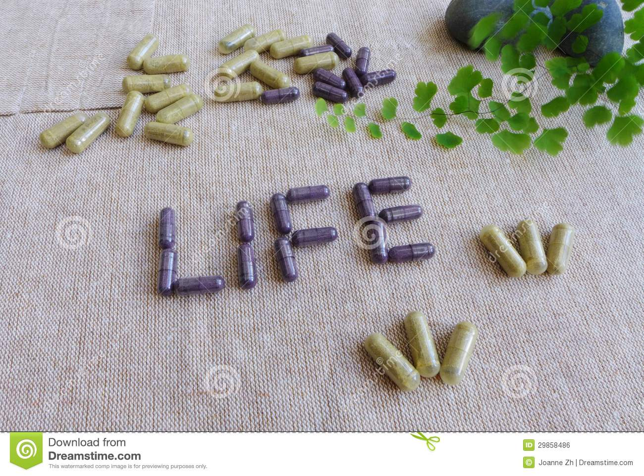 Supplements for healthy life concept