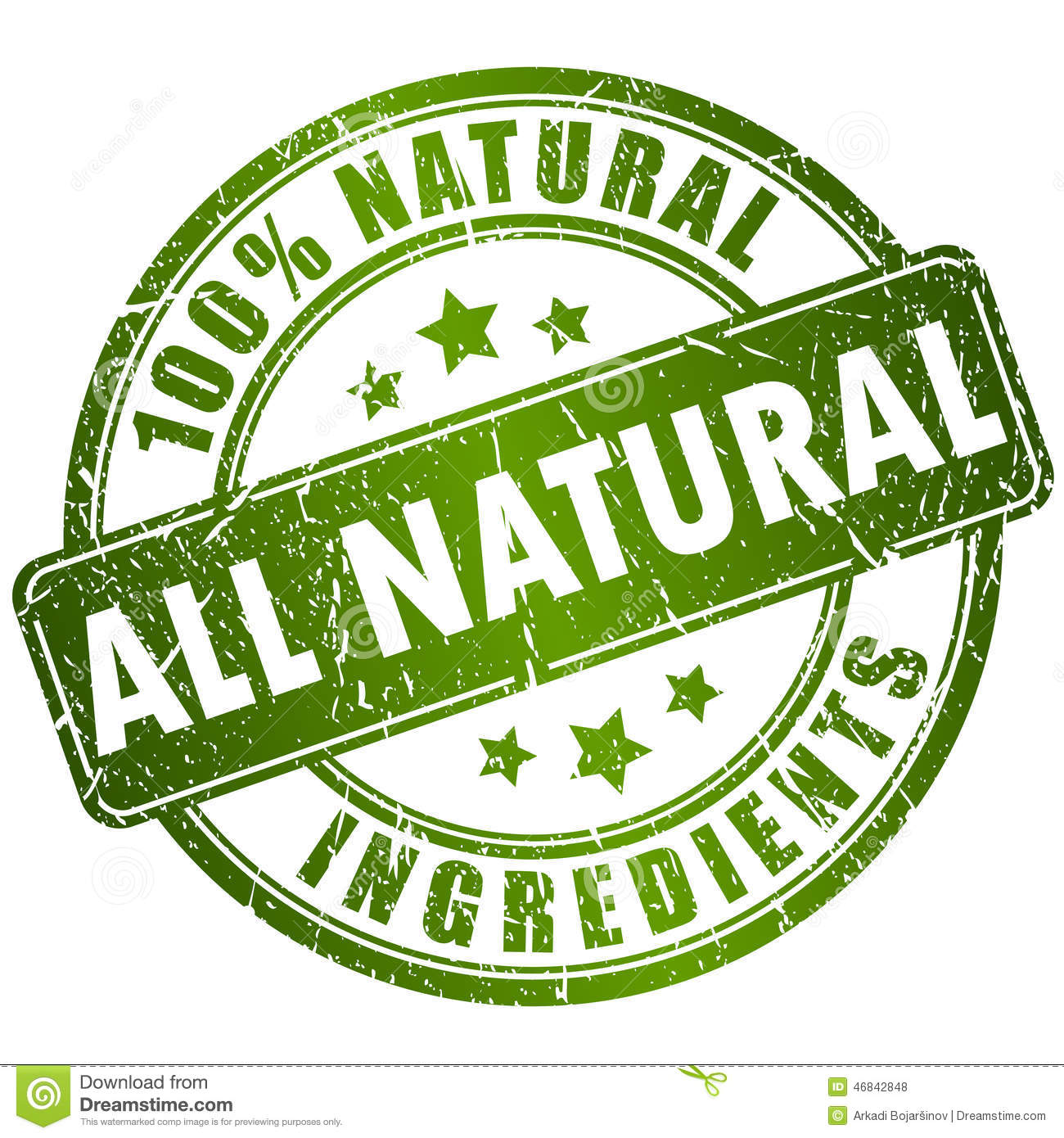 Natural Ingredients Stamp Stock Vector - Image: 46842848
