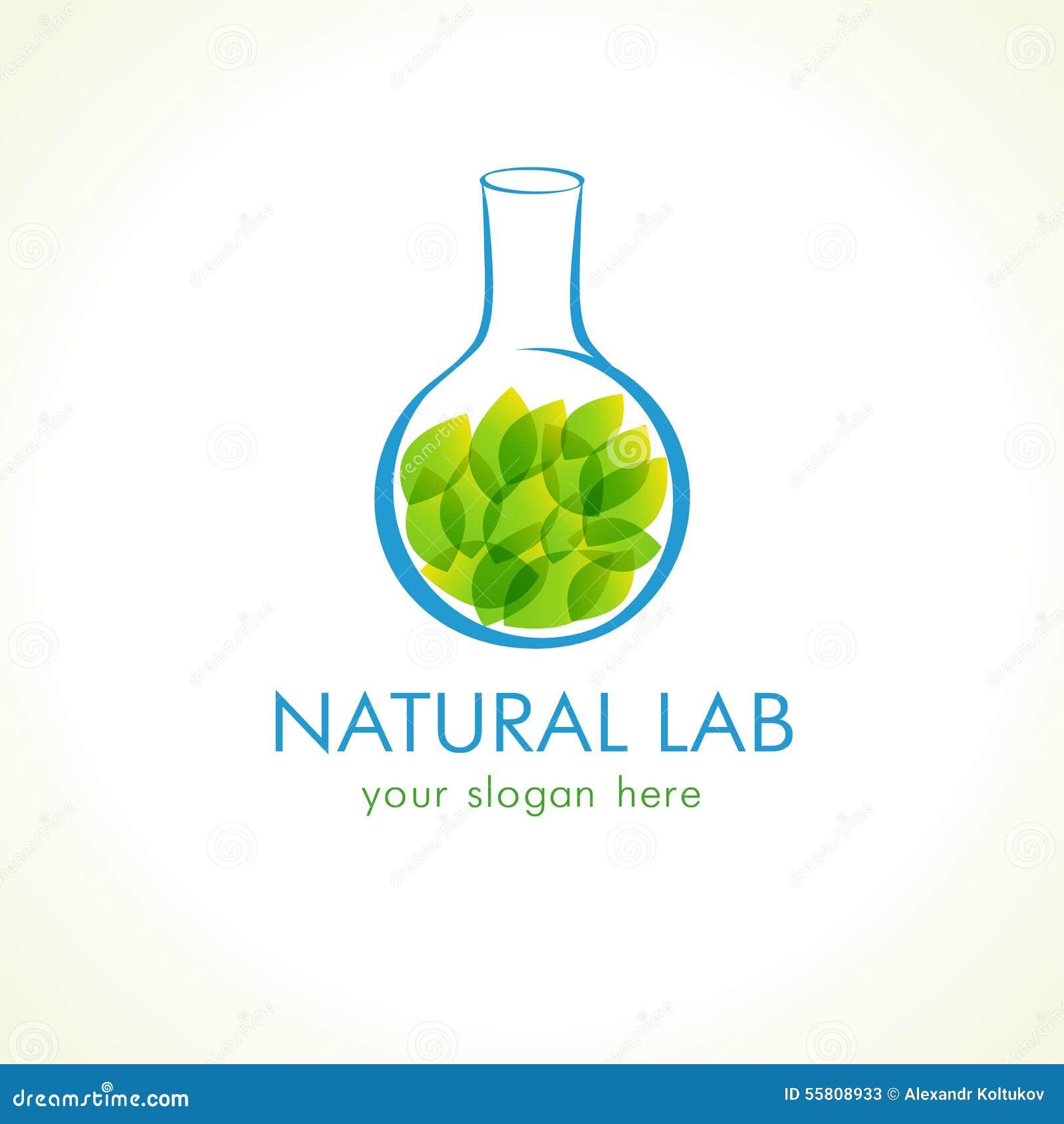 natural lab logo stock vector image 55808933