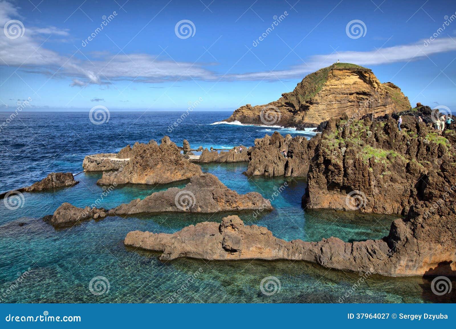 Natural lava rock pools in porto moniz madeira island - Natura portugal ...