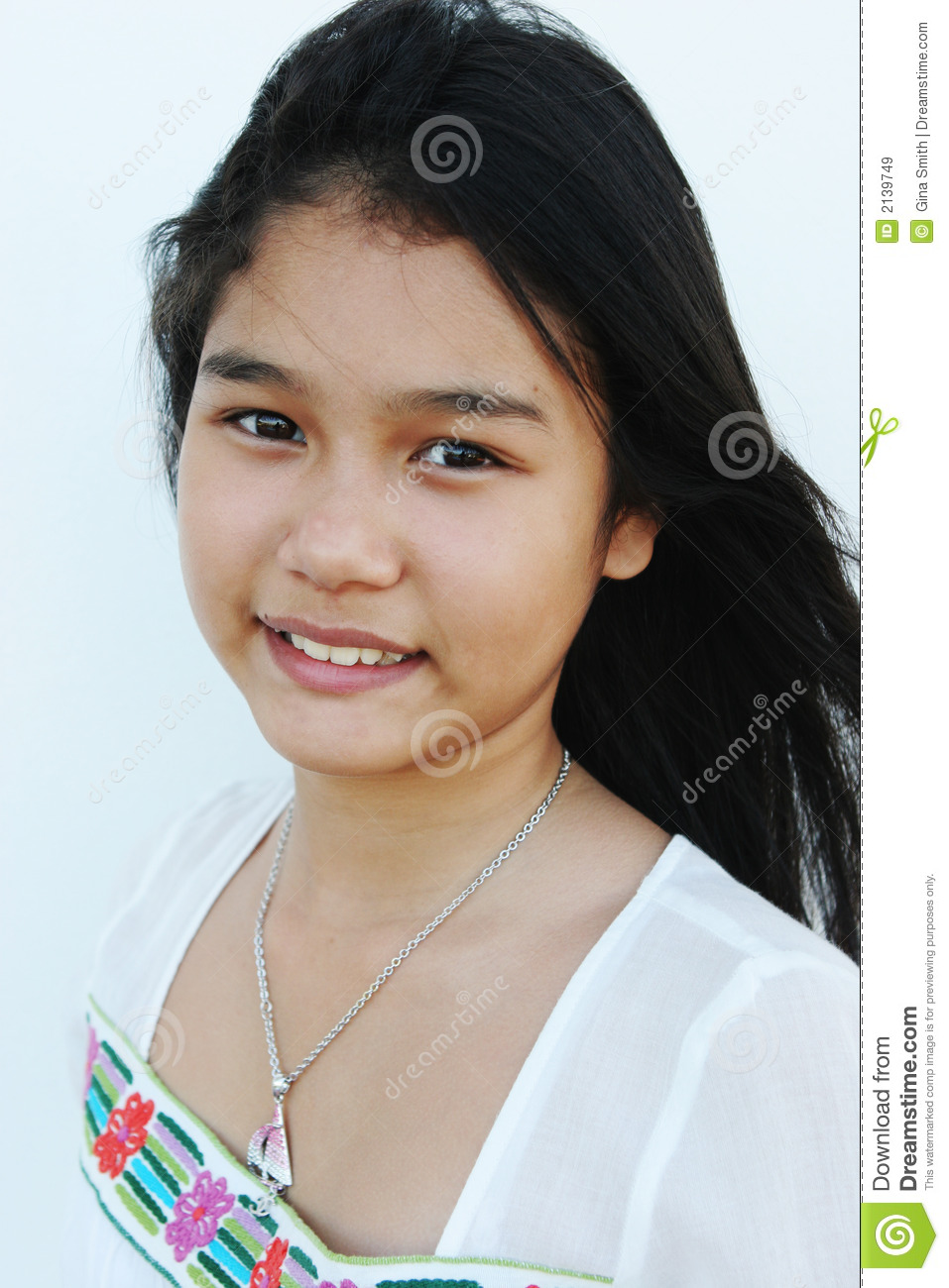 natural looking asian girl royalty free stock images