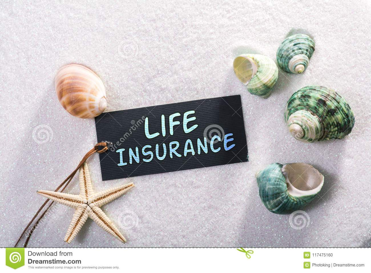 Label with life insurance