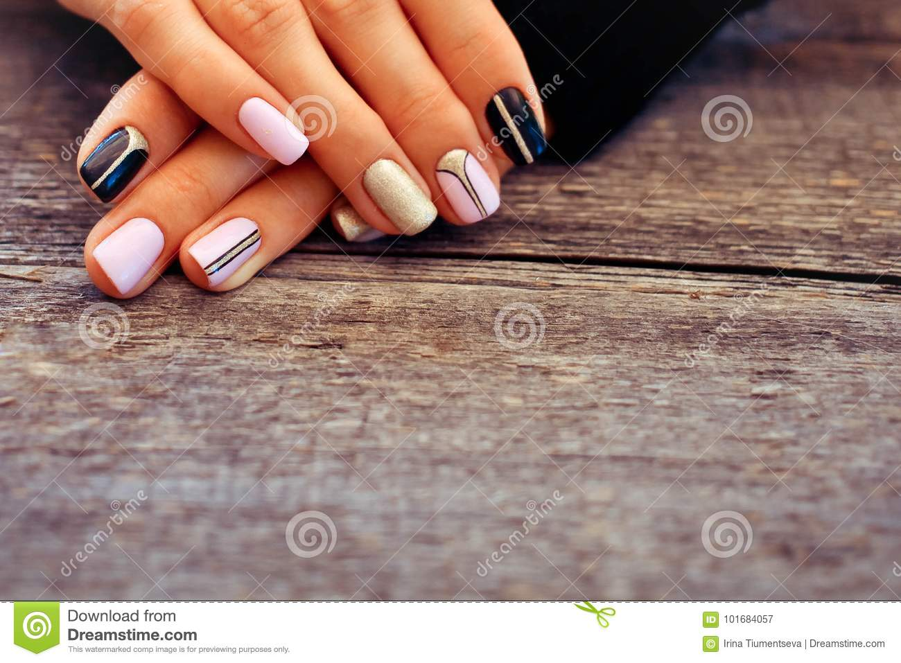 Natural nails, gel polish. stock image. Image of finger - 101684057