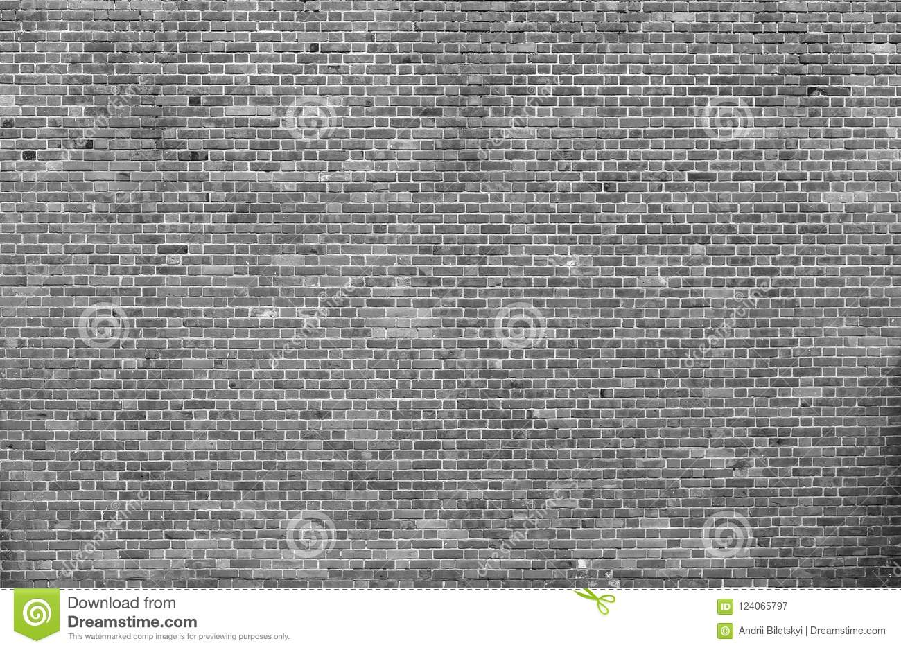 Natural old vintage weathered gray solid brick wall. Abstract co
