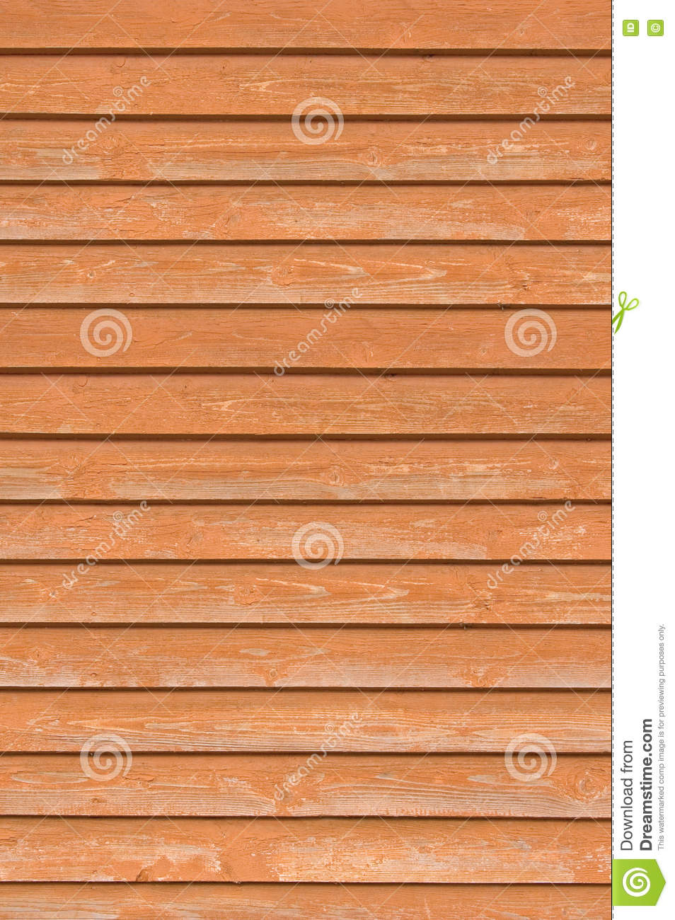 Natural old wood fence wall planks, wooden close board texture, vertical overlapping reddish brown closeboard terracotta rustic
