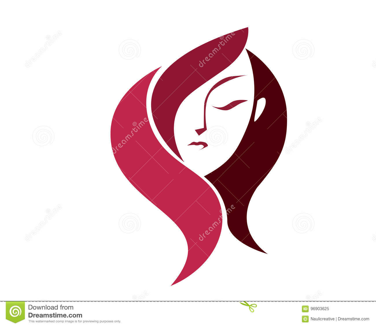 Natural Organic Beauty Female Face Logo Stock Vector Illustration Of Aesthetics Medication 96903625