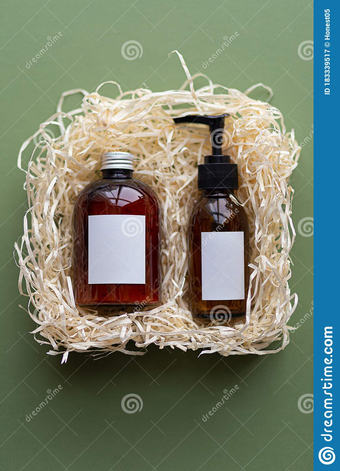 Natural Organic Spa Cosmetic Products Set With Dry Purple Leaves Top View Herbal Skincare Beauty Products On Green Background Stock Image Image Of Gift Natural 183339517