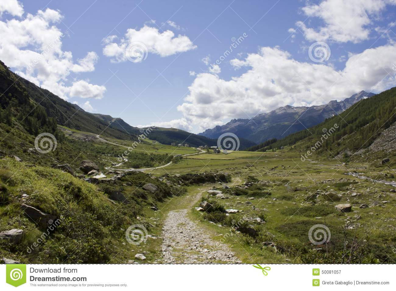 Natural and peaceful mountain landscape stock photo for Mountain floor