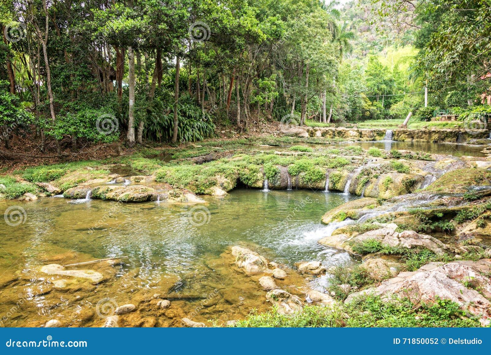 Natural Pool In Rio San Juan Las Terrazas Cuba Stock Photo
