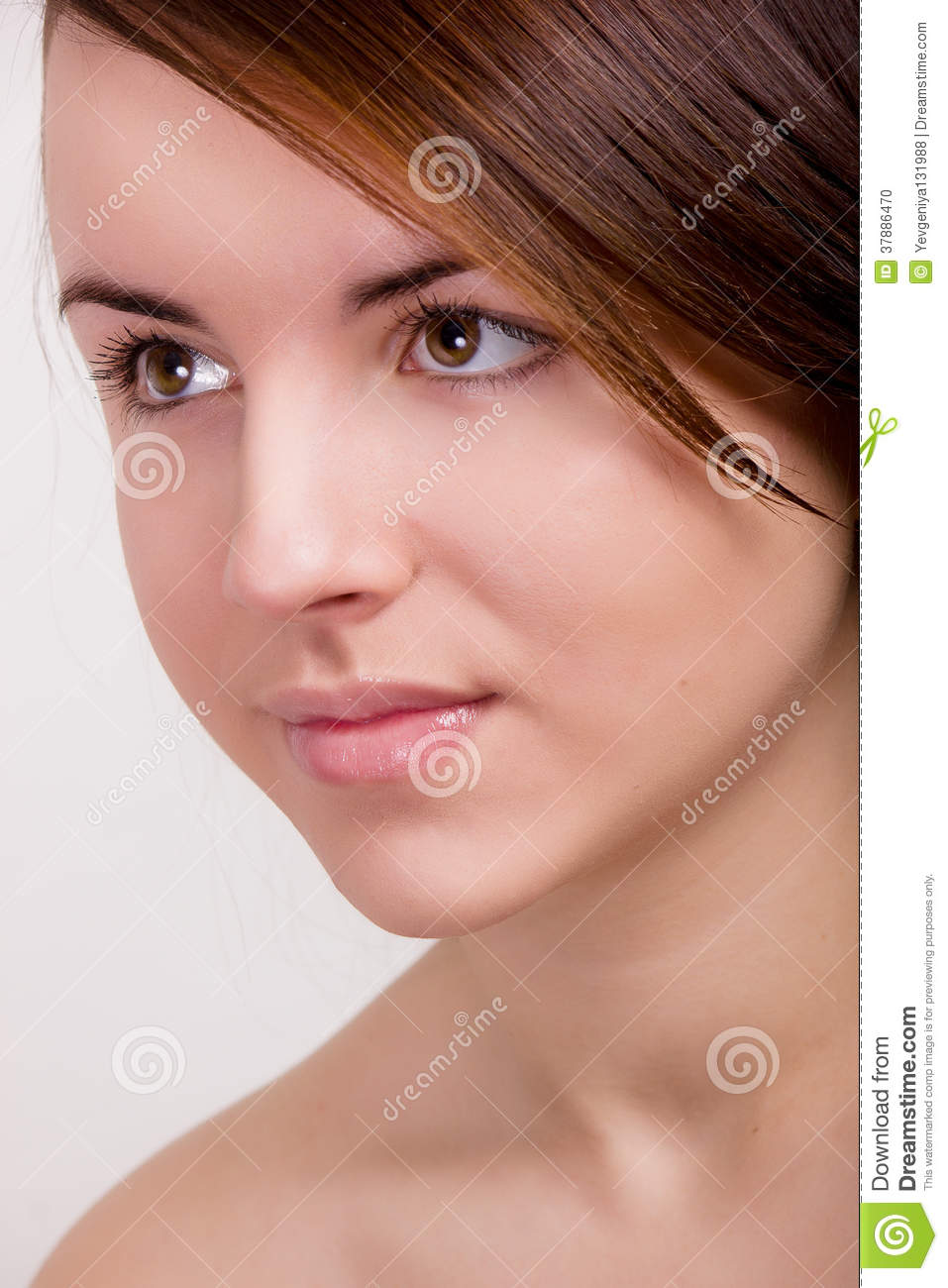Natural portrait of a beautiful young woman
