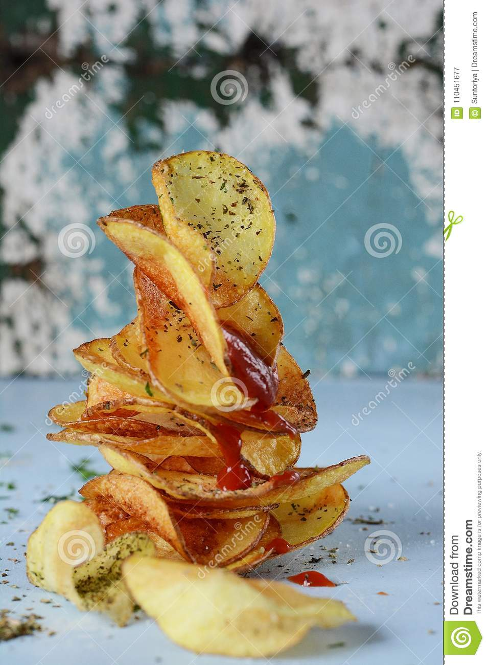 How many calories in fried potatoes