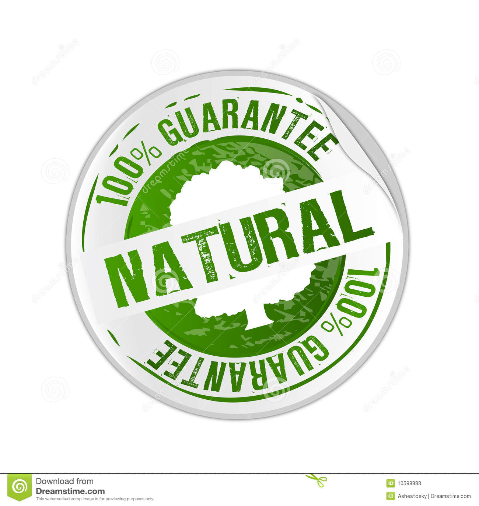 natural product guarantee stamp illustration 10598883 megapixl