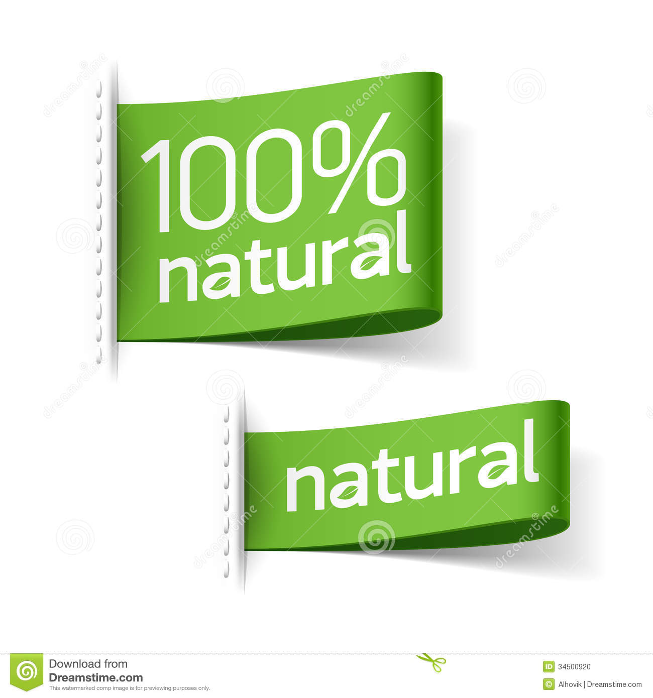 natural product labels stock vector illustration of green 34500920